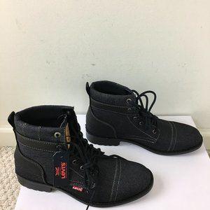 NEW Levi's Denim Boots Mens Casual Boots Black 9.5